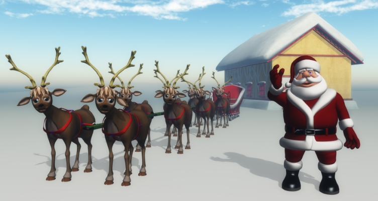 santa and reindeer resized