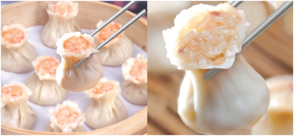 Sticky Rice & Pork Shao Mai as we might see from the Taiwanese Dumpling House